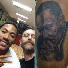 derrick rose pays tribute to martin luther king jr with tattoo