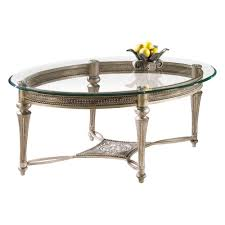 amazon com magnussen galloway oval iron and glass cocktail table