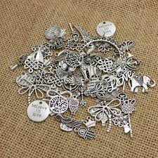 antique silver bracelet charms images Pulchritude 100pcs lot mixed antique silver european bracelets jpg