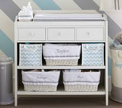chagne baskets ultimate changing table pottery barn kids