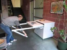 Folding Away A Pull Out Kitchen Table Frame YouTube - Kitchen pull out table