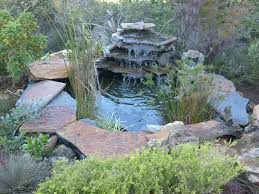 building the pond of the water feature