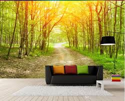 fresh natural landscape woods tree forest background wall mural 3d 52
