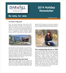 14 holiday newsletter template u2013 free sample example format