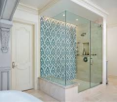 bathroom accents ideas bathroom accent wall blue and pomegranate damask mosaic on