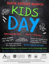 black history month kids day in austin at george washington