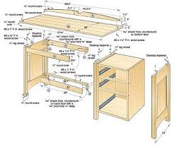 Computer Desk Plan Wood Desk Plans How To Build A Wood Desk Free Woodworking Plans