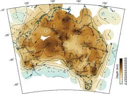 Generic Mapping Tools Ausmoho The Variation Of Moho Depth In Australia Geophysical