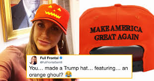 trump made halloween maga hats and twitter noticed a certain