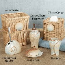 Beach Home Decor Accessories Seashell Bathroom Accessories Home Design Ideas And Pictures