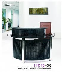 Small Salon Reception Desk Hugo Black Reception Desk Counter Office Stock Regarding Popular