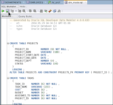 Create Table Oracle Sql Testing And Debugging Procedures Using Sql Developer 4 0