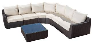 Sectional Cushions Prado Outdoor 7 Piece Sectional Sofa Set With Cushions Beige