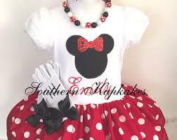 Buy Glam Red Minnie Costume by Minnie Mouse Dress Etsy