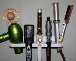Hair Dryer And Flat Iron Holder Wall Mount inspirations dryer straightener holder organizer for hair