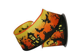 craft ribbon haunted house wired ribbon shelley b