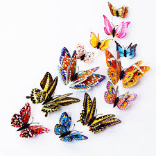 amazon com wall decal butterfly 80 pcs wall sticker decals 3d