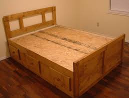 Simple Queen Size Bed Designs Bedroom Simple And Neat Picture Of Solid Light Oak Wood Trundle