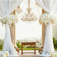 white 10m top table chair swags sheer organza fabric wedding