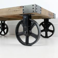 Coffee Tables With Wheels Industrial Coffee Table On Wheels With Wonderful Targovci Com
