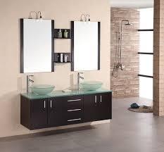 Double Sink Vanity Mirrors Rustic Double Sink Bathroom Vanity Modern Frameless Wall Mirrors