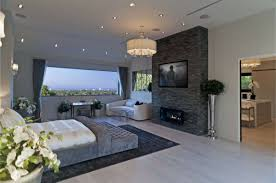bedroom wonderful rectangle modern laminated stone fireplace in