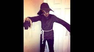 scary scarecrow halloween costume easy scary scarecrow makeup youtube