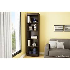 Narrow Black Bookcase by South Shore Axess 5 Shelf Bookcase In Chocolate 7259758 The Home