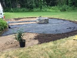 Backyard Pebble Gravel Installing A Pea Stone Patio Shine Your Light