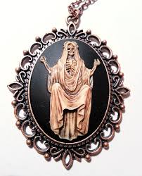 cameo necklace images Santa muerte cameo necklace jpg