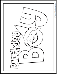 55 birthday coloring pages customizable pdf