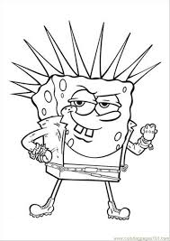 coloring pages decorative outline of spongebob coloring pages