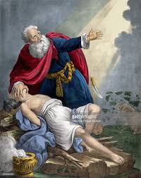 abraham offering up his son isaac bible illustration pictures
