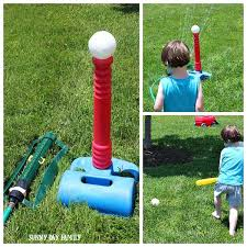 Backyard Activities For Kids Sprinkler Baseball Activity For Preschoolers Sunny Day Family