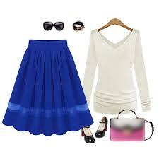 knee length skirt aliexpress buy stylish women retro organza skirt high