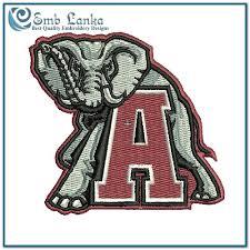Alabama Crimson Tide Logo Embroidery Design Emblanka Com Alabama Crimson Tide Coloring Pages