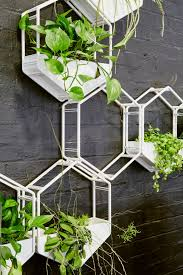 White Wall Planter by Wabe Wall Planter Oblica Melbourne Modern Designer Fireplaces