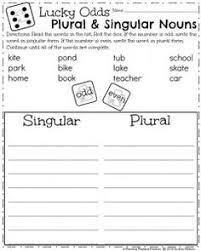 singular and plural nouns worksheet esl education pinterest
