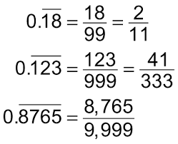 how to convert between fractions and repeating decimals dummies