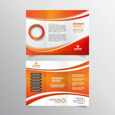 design flyer orange and white flyer design vector free
