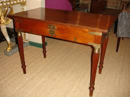 an anglo indian brass mounted teak lift top campaign desk