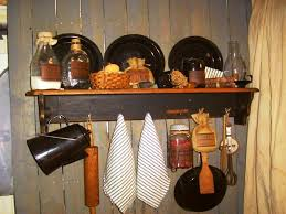 lovely primitive kitchen designs with wooden cabinet and tile