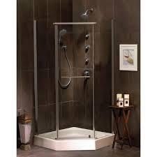 mirolin sorrento 38 inch acrylic neo angle shower door u0026 base