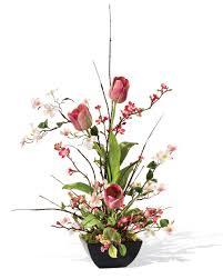 shop cherry blossom dogwood u0026 tulip silk flower arrangements at