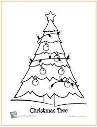 christmas tree free printable coloring