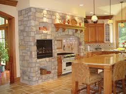 Stone Kitchen Backsplash Plushemisphere Marvellous Stone Wall In Kitchen Gallery Best Idea Home Design