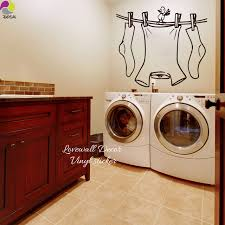 laundry room signs wall decor laundry room sign wall sticker clothes line with bird wall