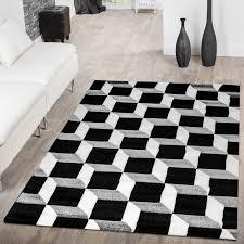 designer teppich designer teppich wohnzimmer würfel geo design 3d optik grau creme