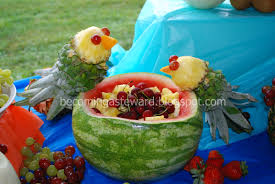 becoming a steward luau fruit display