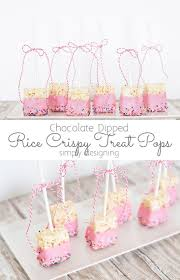 chocolate dipped rice crispy treat pops dips rice and celebrations